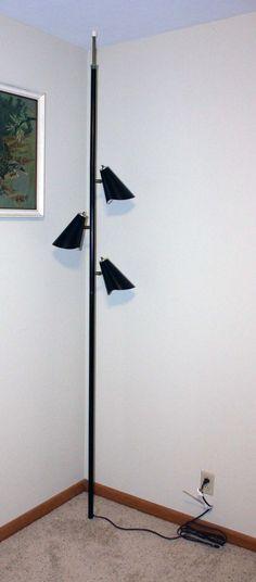vintage tension pole lamp photo - 10