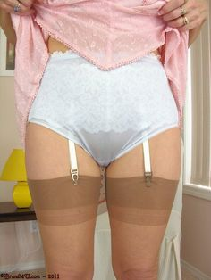 So nice and in addition a lovely garter belt underneath. classic amber stockings and that pink slip completes this very delicate choice in lingerie. Stockings And Suspenders, Nylon Stockings, Retro Lingerie, Sexy Lingerie, Satin Lingerie, White Lingerie, Nylons, Granny Panties, Granny Bra