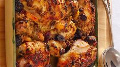 This go-to chicken recipe, with a glossy and delicious sauce, is perfect for Rosh Hashanah or Shabbat. Fruit Recipes, Chicken Recipes, Cooking Recipes, Recipies, Healthy Recipes, Passover Recipes, Jewish Recipes, Holiday Recipes, Dinner Recipes