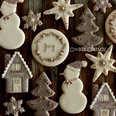 Christmas hand decorated cut out cookies, royal icing, snowman, snowflake, star, Christmas tree ~Cookie Crumbs~クッキー・クラムズのアイシングクッキー -6ページ目