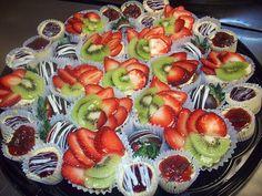 Fruit Tarts | #Chocolate dipped #Strawberries | Fancy #Dessert Tray | Azucar Bakery
