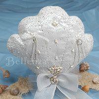 Seashell Ring Pillow with handmade details from Bellenza. Elegant Wedding Favors, Beach Wedding Favors, Wedding Crafts, Summer Wedding, Diy Wedding, Wedding Ceremony, Dream Wedding, Ring Bearer Pillows, Ring Pillow Wedding