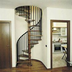 Escalier en colimaçon / marche en bois / maçonné / d'intérieur ALADIN CF Scale nilur