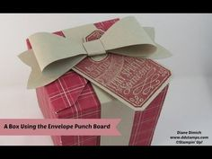 How To Make A Box with the Stampin' Up! Envelope Punch Board - YouTube