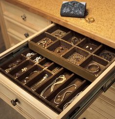 Keep your jewelry protected with a jewelry organizer, which helps you separate and keep track of all your jewelry, making it easy to accessorize when dressing.