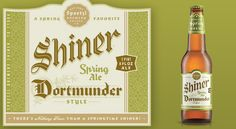 Shiner Spring Ale label design.     I have yet to try this one. But I have never had a Shiner I didn't head-over-heals love. Seriously. It's the best beer ever.