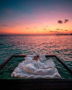 This Maldives Resort Is Known For Its Suspended Nets Above the Sea, and the Photos Are Unreal - - A remote resort is known for its above-water nets, and the photos are unreal. Vacation Places, Dream Vacations, Vacation Spots, Romantic Vacations, Italy Vacation, Romantic Travel, Romantic Places, Romantic Getaways, Beautiful Places To Travel