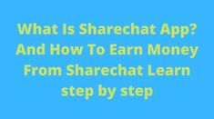 What Is Sharechat App and How to Earn Money From Sharechat. ShareChat App is known as a Video Status App.It is a very popular video status app created by the students of IIT Kanpur. Chat App, Popular Videos, Seo Tips, Love Messages, New Friends, Earn Money, Blogging, Knowledge, Students