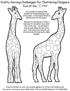 how to carve a wooden Chainsaw Carving instructions Giraffe patterns. https://www.facebook.com/Bill.Sculptures.tronconneuse.Quebec
