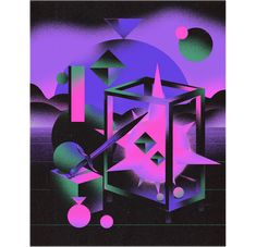 Sandro Rybak on Behance 80s Design, Layout Design, Graphic Design, Wacom Intuos, Retro Illustration, Color Shapes, Self Branding, Art Tutorials, Sandro