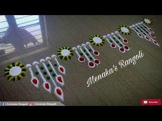 Quick & Simple Border Rangoli Design - YouTube