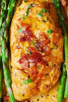 Bacon Chicken with Sun-Dried Tomato Cream Sauce – sauce made with garlic, sun-dried tomatoes, basil, shredded Mozzarella cheese, and cream. So good!  The chicken is moist and tender! Serve with steamed asparagus. This recipe is perfect for low carb, high protein diet. There are hardly any carbs in this recipe, and it tastes so good...Read More