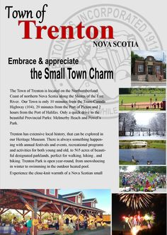Trenton, NS CANADA Northumberland Coast, Our Town, East River, Nova Scotia, Some Pictures, Small Towns, Canada