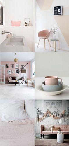 Bloesem Living | Blush tone interiors on Binti Home's pinterest