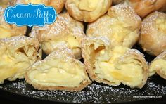 Cream Puffs  This cream is so good I use it for all sorts of things such as filling for Crepes & topped with Rose Petal syrup or any topping for that matter :)