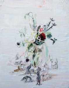 wildthicket:    Allison Schulnik's Flowers with Figures, 2011