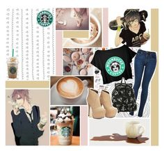 """I need my Starbucks "" by sparklekittygirl ❤ liked on Polyvore featuring women's clothing, women's fashion, women, female, woman, misses and juniors"