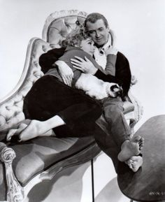 #Cats | James Stewart and Kim Novak with Siamese cat, Pyewacket (Bell, Book and Candle, 1958)