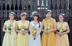 Vintage/retro wedding inspiration filled with marigold, lemon and buttery yellows.  LOVE!