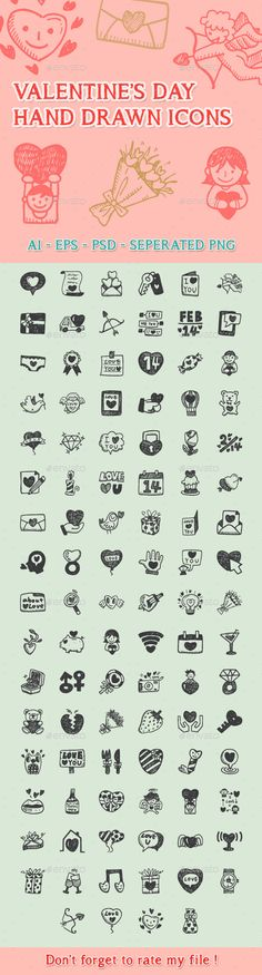 Love Hand Drawn Icons (Seasonal)