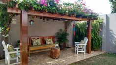 Backyard Seating, Backyard Retreat, Backyard Patio, Backyard Landscaping, Mexican Home Decor, House Extension Design, Village House Design, House Plants Decor, 3d Home