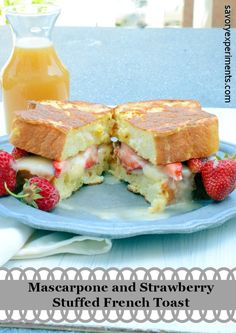 Strawberry and Mascarpone Stuffed French Toast