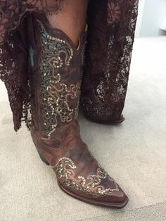 The Mother of Bride Dresses with Cowboy Boots Country