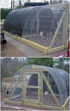 simple diy hoop coop chickencoopplans - Chicken Co Op Plans And Greenhouse