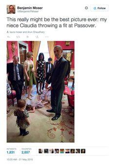 Little Girl's Temper Tantrum at the White House Leaves President Obama Speechless