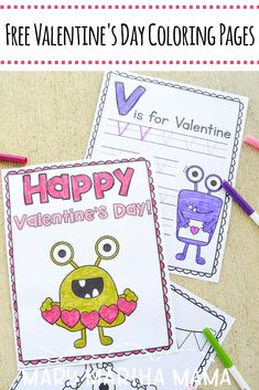 Grab these 10 free printable Valentine's Day coloring pages and enjoy some fun holiday coloring with your kiddos. Valentines Day Coloring Page, Valentine Day Love, Valentines For Kids, Valentine Day Crafts, Valentines Day Activities, Holiday Activities, Activities For Kids, Mary And Martha, Easy Coloring Pages