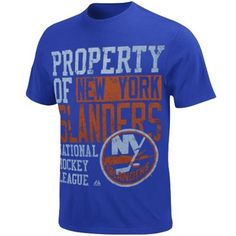 48137818d4f Majestic New York Islanders Wild Double Minor T-Shirt - Royal Blue
