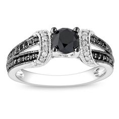Overstock.com Mobile Black wedding ring