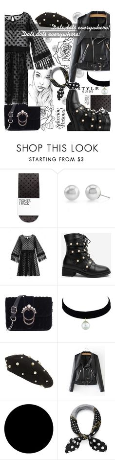 """Dots and black everywhere,all of fashion is there!⚫️"" by jelena-bozovic-1 ❤ liked on Polyvore featuring Topshop and Wall Pops!"