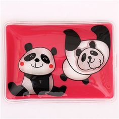 square pink panda bear animal pocket warmer hot pad Prime Nakamura