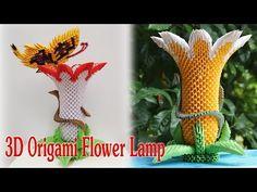 3D Origami Flower Lamp | 3d origami brugmansia flor tutorial - YouTube
