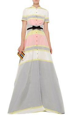 Carolina Herrera Stripe Gown - Preorder now on Moda Operandi
