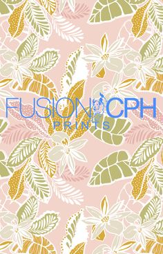 Tropical print.. from Fusion CPH print design studio from Copenhagen. We design all kind of prints for fashion and interior textiles. See some of our unique prints at Instagram: fusioncph or at www.fusioncph.com Pattern Art, Print Patterns, Mixing Prints, Pastel Colors, Surface Design, Print Design, Tropical Prints, Textiles, Copenhagen