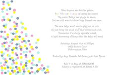 perfect invitation for a baby sprinkle or a 2nd baby shower
