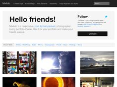 Photographer Portfolio WordPress template. Responsive.