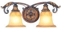 Livex Lighting Villa Verona Verona Bronze with Aged Gold Leaf Accents Bath 8552-63