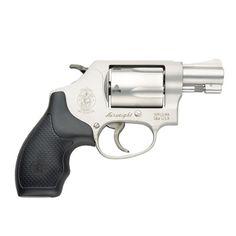 The Smith & Wesson Model 637 .38 Special snub nose revolver.