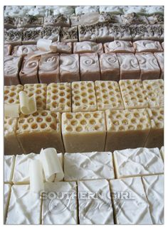Soaps trimmed up and almost ready to package!  https://www.facebook.com/SouthernGirlSoapery
