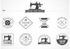 Free Vintage Tailor Vector Labels