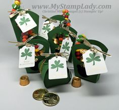 Stampin' Up! Fry Box St. Patrick's Day Treats
