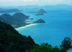View from the highest point in the BVI - Sage Mountain.