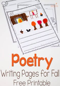 These free printable poetry pages for fall are a fun way to practice poetry and writing skills.