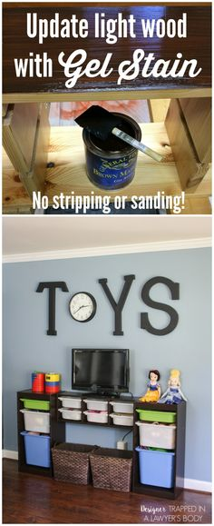 How to Use Gel Stain to Update Cabinets. Darker StainHow To Stain Wood  Furniture ...