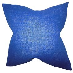 Ellery Navy Solid Feather and Down Filled Throw Pillow