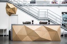 References   WOOD-SKIN Reception Desk Design, Reception Counter, Office Reception, Reception Furniture, Reception Areas, Design Entrée, Lobby Design, Bureau Design, Office Interior Design