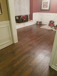 TrafficMASTER Hand scraped Saratoga Hickory 7 mm Thick x in. Wide x in. / The Home Depot Ash Flooring, Mahogany Flooring, Oak Laminate Flooring, Real Wood Floors, Wide Plank Flooring, Engineered Hardwood Flooring, Hardwood Floors, Luxury Vinyl Tile Flooring, Luxury Vinyl Plank